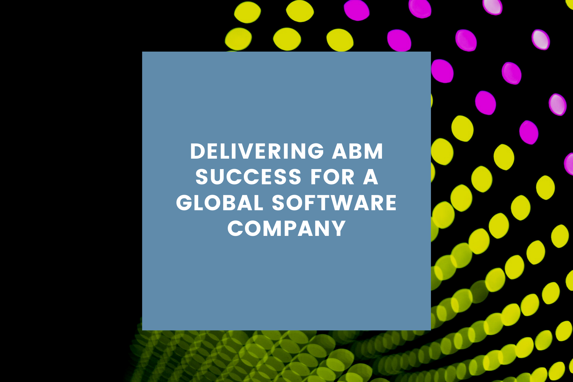 ABM strategy for global software company